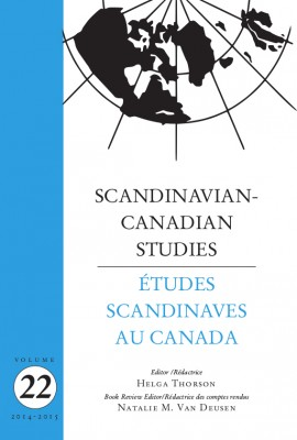 Scandinavian-Canadian Studies Vol 22