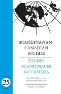 Scandinavian-Canadian Studies Vol 25
