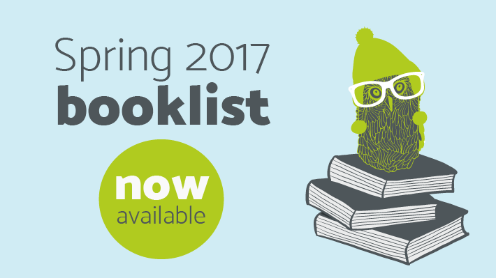 Spring Booklist now available