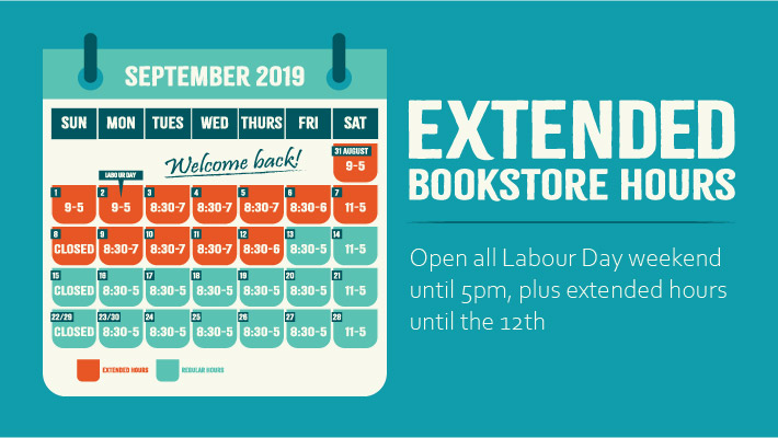 Extended bookstore hours