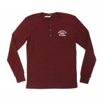 Henley Long Sleeved Tee Cardinal Heather