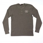 Henley Long Sleeved Tee Heather Grey