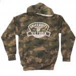 "MV Sport: ""University of Victoria"" Camo Tie-Dyed Hoodie"