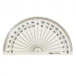 "4"" Clear Plastic Protractor"