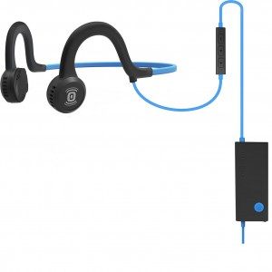 Aftershokz Sportz Titanium Wired Headphone with Mic - Ocean Blue
