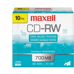 Maxell 10-Pack CD-RW 700MB