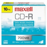 Maxell 10PK CD-R 700MB