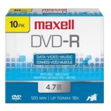 Maxell 10-Pack DVD-R 4.7GB