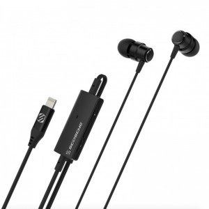 Scosche Lightning Earbuds with Remote and Mic - Black