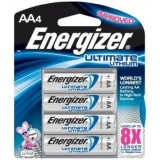 Energizer Ultimate Lithium 4 - AA Batteries