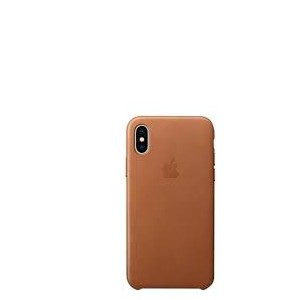 Apple Leather Case for iPhone X - Saddle Brown
