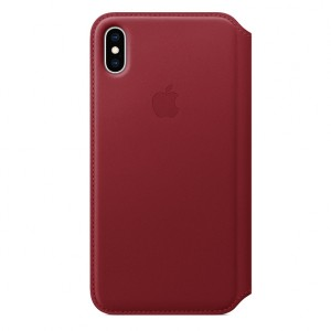 Hot Buy - Apple iPhone XS Max Leather Folio - RED