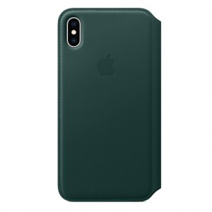 Hot Buy - Apple iPhone XS Max Leather Folio - Forest Green