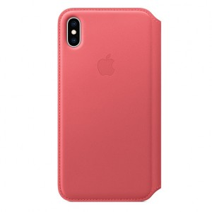 Hot Buy - Apple iPhone XS Max Leather Folio - Peony Pink