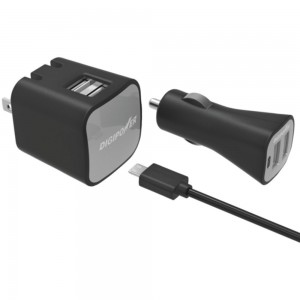 DigiPower 2.4A Wall Charger/Car Charger/Micro-USB Cable