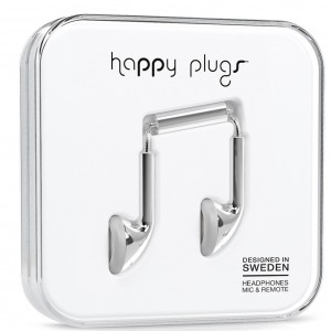 Happy Plugs Earbuds - Silver