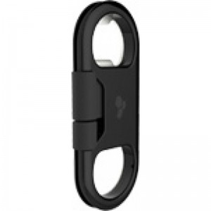 Kanex Gobuddy Plus ChargeSync Lightning Cable- Bottle Opener - Black