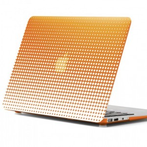 "Uncommon Defender Shell for Macbook Pro 13"" - Orange Dots"