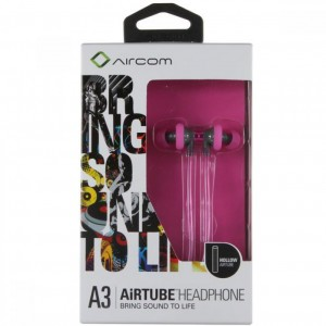 Aircom A3 Stereo Airtube Earbuds - Pink